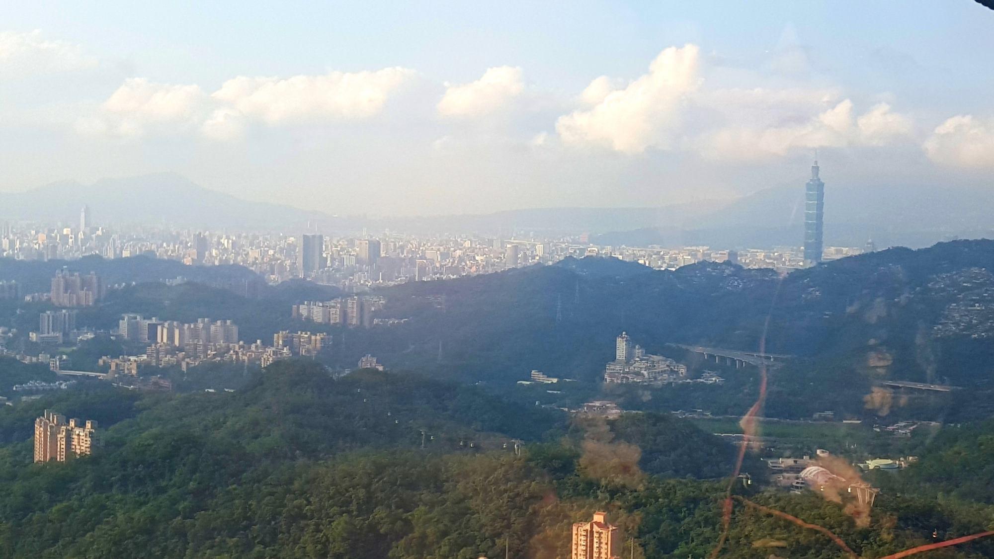 Maokong Gondola Taipey City Skyline Taipei Taiwan