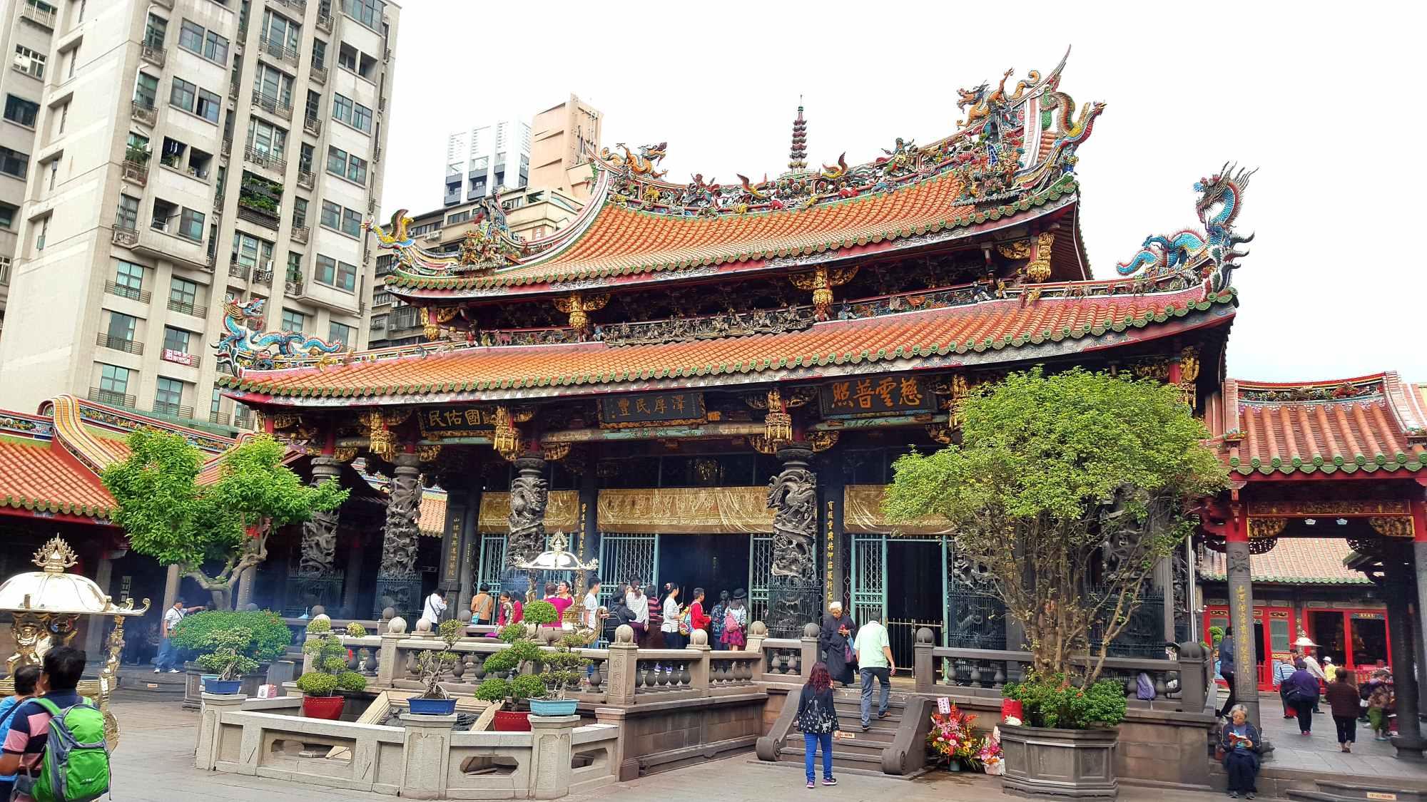 Mengjia Longshan Temple Taipei Taiwan