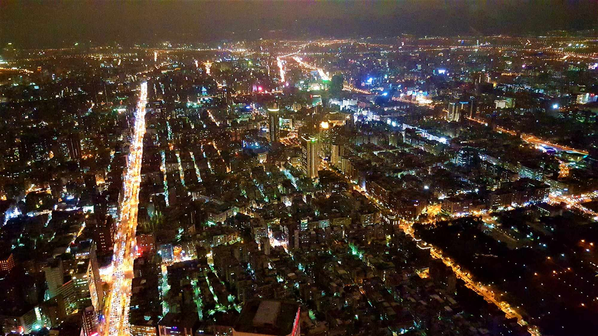 Taipei101 view observation deck by night Taipei Taiwan