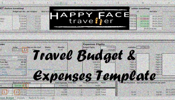 Travel Budget Expenses Template Image