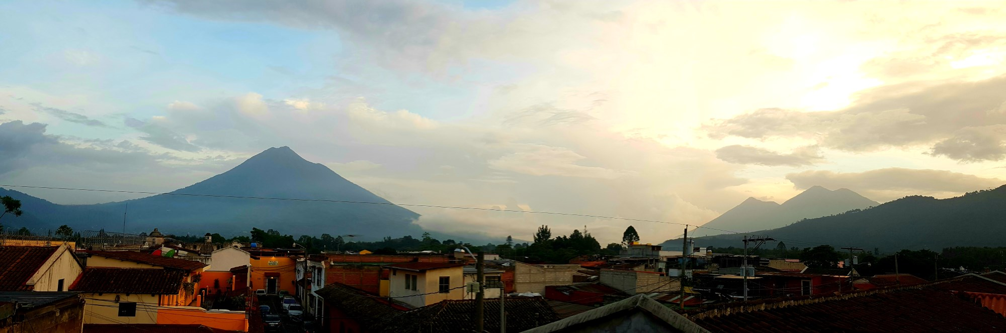 things to do antigua guatemala skyline volcano agua