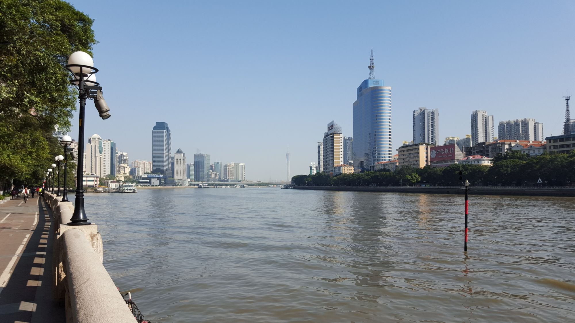 Top things to do China Guangzhou skyline river.
