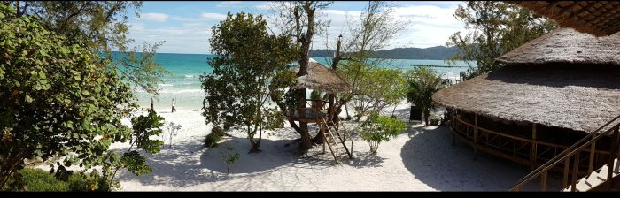 Things to do in Cambodia Koh Rong Samloem beach hostel view